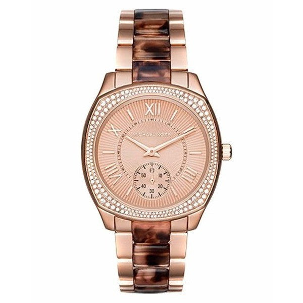 MICHAEL KORS Bryn Rose Gold-Tone Dial Two Tone Ladies Watch MK6276