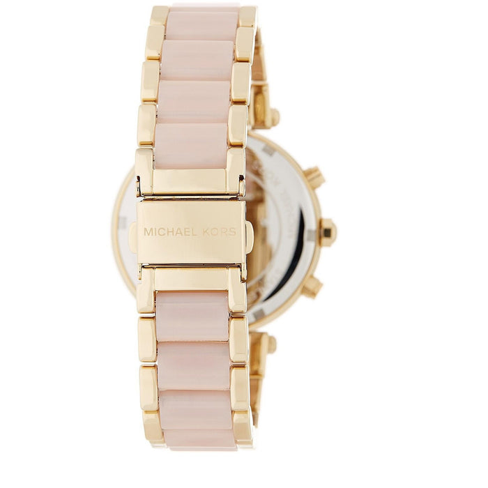 26b3aa79255 Michael Kors Women s Parker Gold-Tone Watch MK6326 Chrono Watch ...