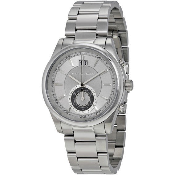 Michael Kors Men's Aiden Silver-Tone Watch MK8417