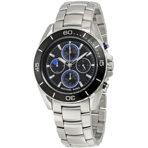 Michael Kors Men's Jetmaster MK8462 Stainless Steel Watch with Black Dial