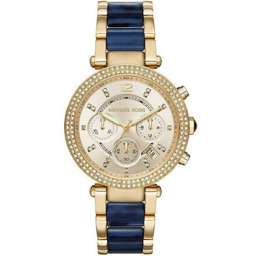 Michael Kors Women's MK6238 'Parker' Chronograph Crystal Two-Tone Stainless Steel Watch