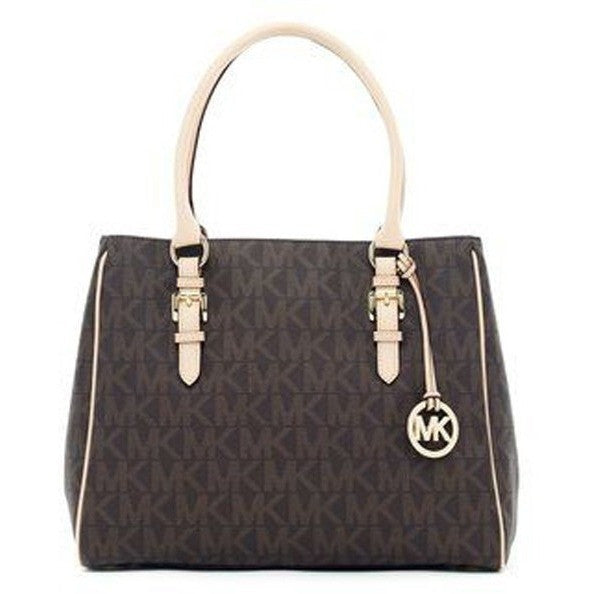 Michael Kors Jet Set Brown Tote Bag - lalamall