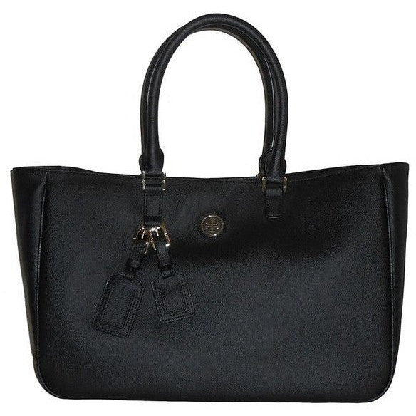Tory Burch Roslyn Canvas Pvc Black Tote Bag