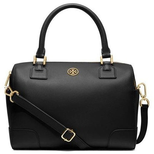 Tory Burch Women's Robinson Satchel, Black, One Size