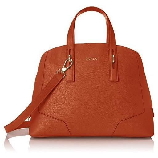 Furla Perla Medium Satchel Top Handle Bag, Maple, One Size