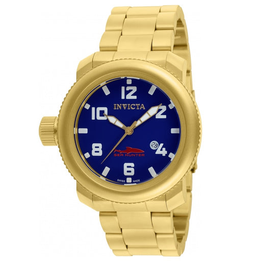 Invicta Men's 11238 Russian Diver Sea Hunter Blue Dial Gold Watch