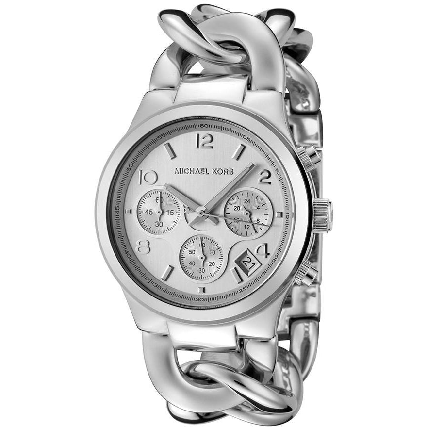 Michael Kors Chronograph Chain Bracelet Silver Dial Women's Watch MK3149