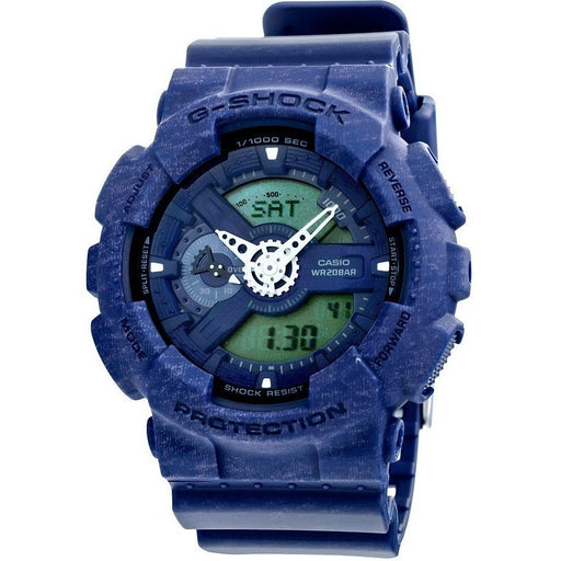 Casio G-Shock Heathered Blue Dial Resin Quartz Men's Watch GA110HT-2A