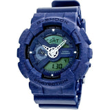 Casio G-Shock Heathered Blue Dial Resin Quartz Men's Watch GA110HT-2A - lalamall