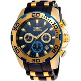 Invicta Men's 22341 Pro Diver Quartz Chronograph Blue Dial Watch