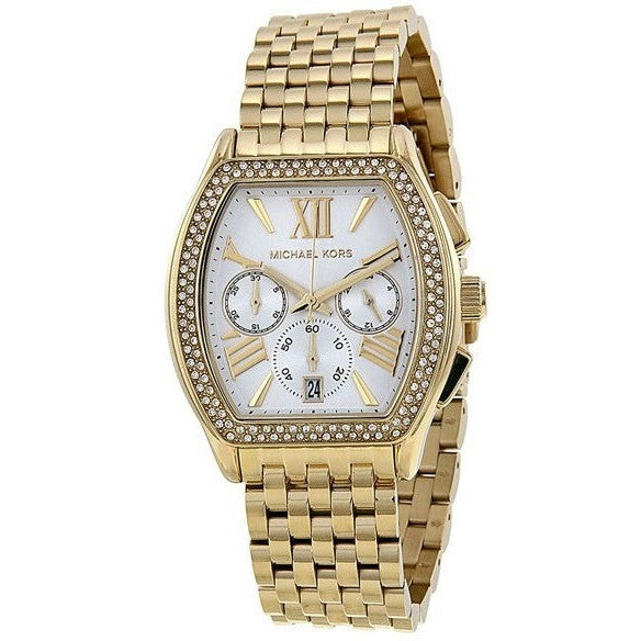 Michael Kors MK5898 Women's Watch  'Amherst' Crystal Bezel Chronograph
