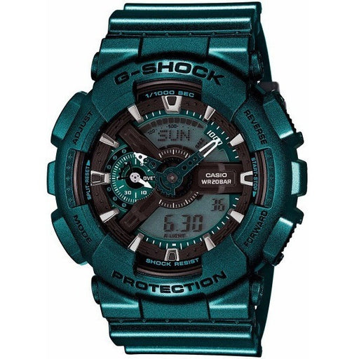 Casio G-Shock Green-Tone Analog Digital Dial Resin Quartz Men's Watch GA110NM-3A