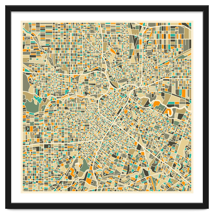 Houston Map Art Print