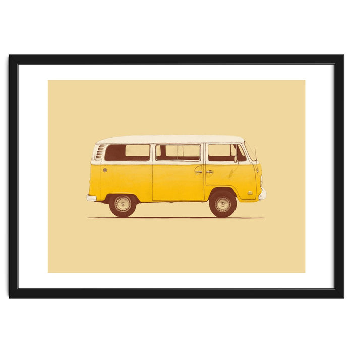 Yellow Van Framed Artwork