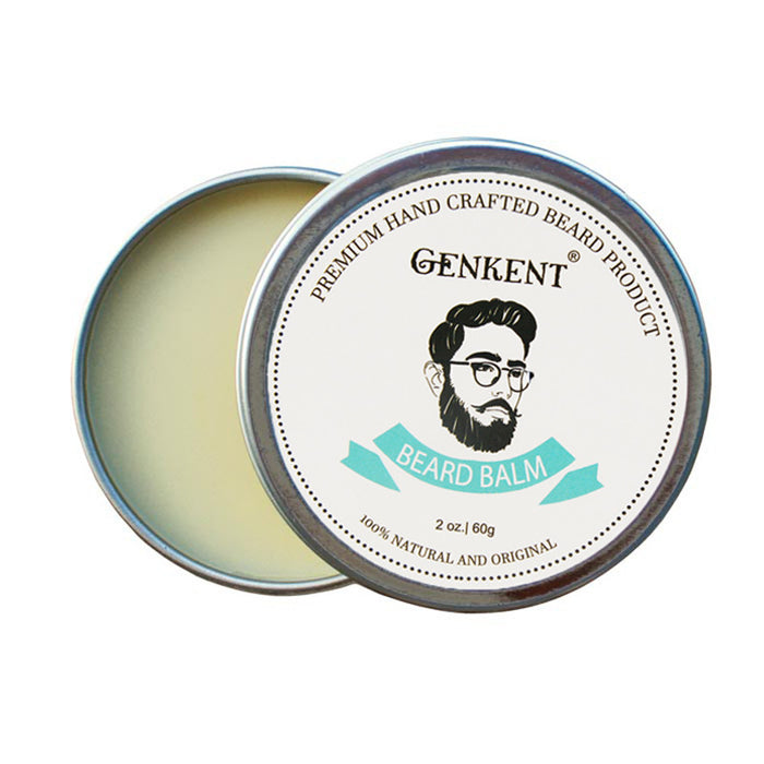 Genkent 100% Natural Beard Balm Moustache Cream Conditioner Heathy Beard Styling Moustache Wax