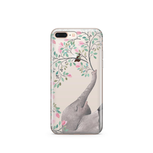 Blowing Flowers - Clear TPU iPhone Case / Samsung Case Phone Cover