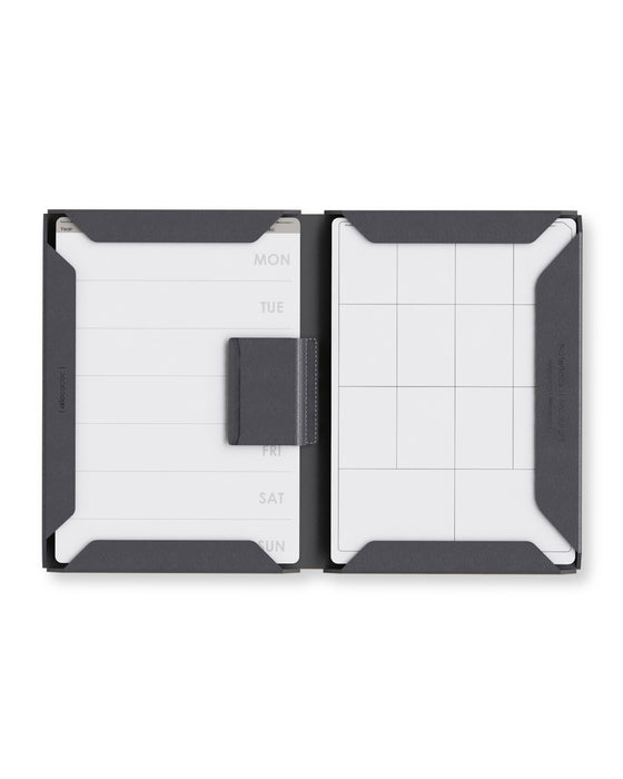 Magnetic border clips/Microfiber Leather Hardcover Executive Notebook