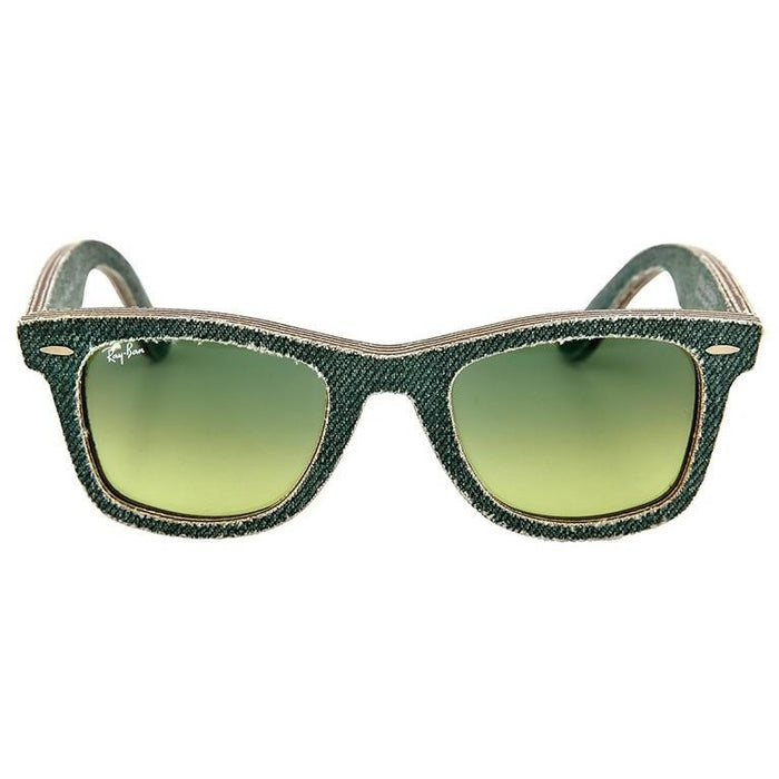 RAY BAN New Wayfarer Green Gradient Lens 50mm Men's Sunglasses RB2140 11663M