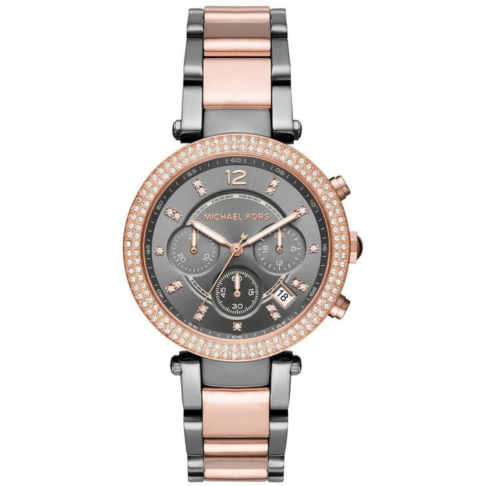 Michael Kors Women's Chronograph Parker Two-Tone Stainless Steel Watch MK6440