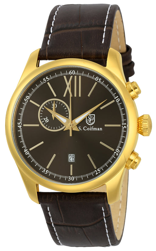 S.Coifman Men's SC0373 Quartz Brown Dial Watch
