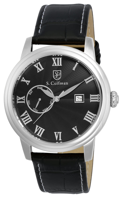 S.Coifman Men's SC0387 Quartz Black Dial Watch