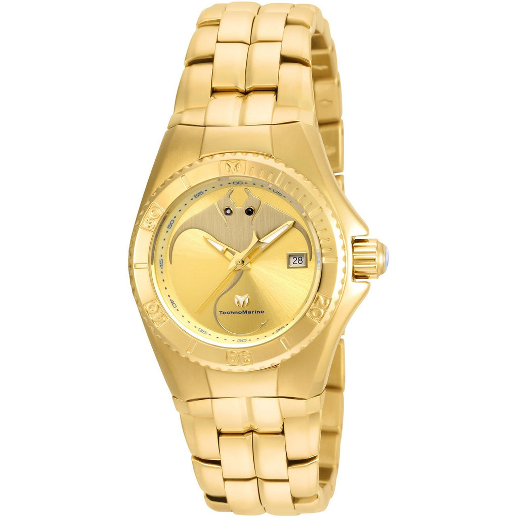 TR Women's TM-115186 Cruise Dream Quartz Gold Dial Watch