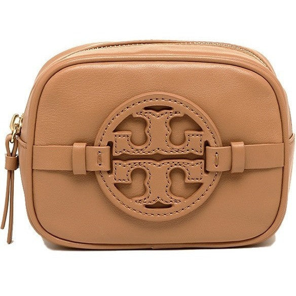 Tory Burch Classic Holly Cosmetic Makeup Case Vintage Vachetta