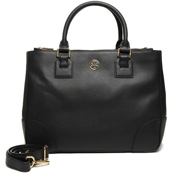 Tory Burch 50009822 001  Robinson Double Womens Black Purse Leather Tote
