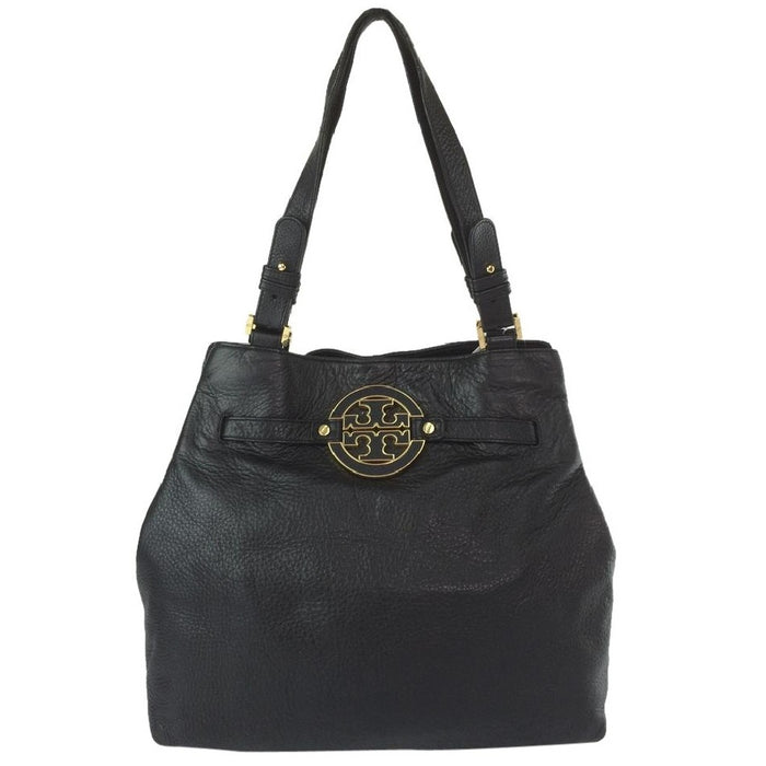 Tory Burch Amanda N/s Leather Black Tote Bag