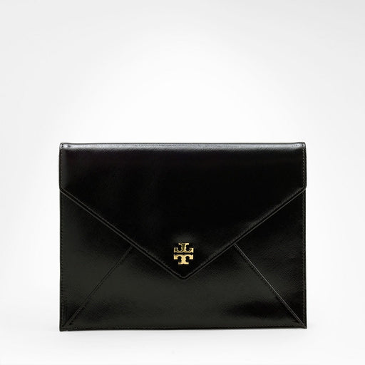 Tory Burch Robinson Kira Envelope Black Clutch