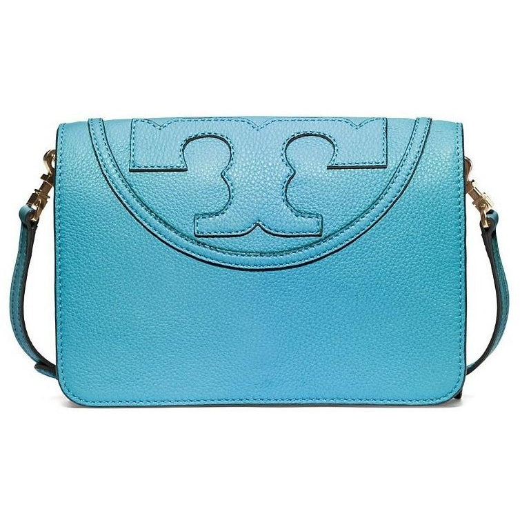 Tory Burch All-T Small Crossbody Juniper Berry Blue Bag Lleather