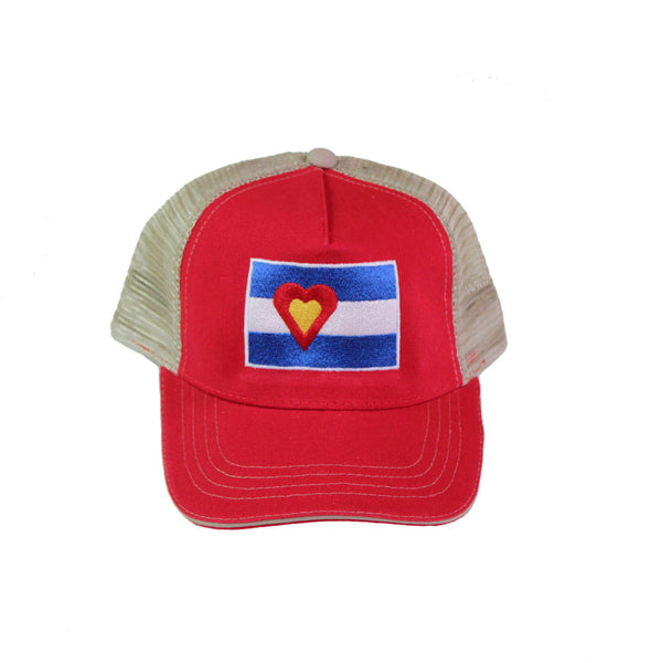 Canvas Hat, Red