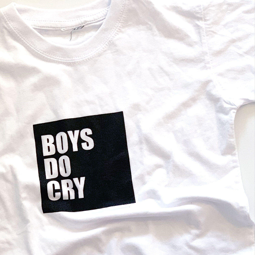 Boys Do Cry Kids T-shirt - pink is for boys