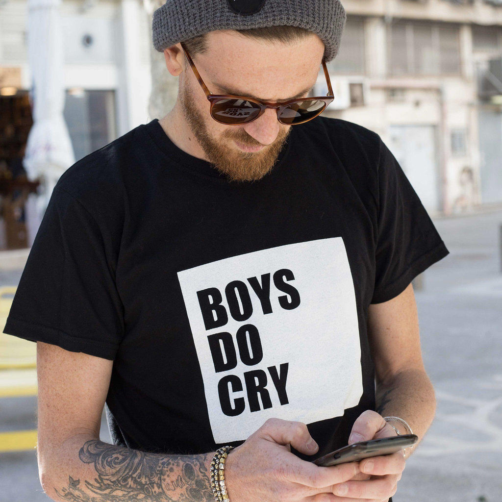 Boys Do Cry T-shirt - pink is for boys