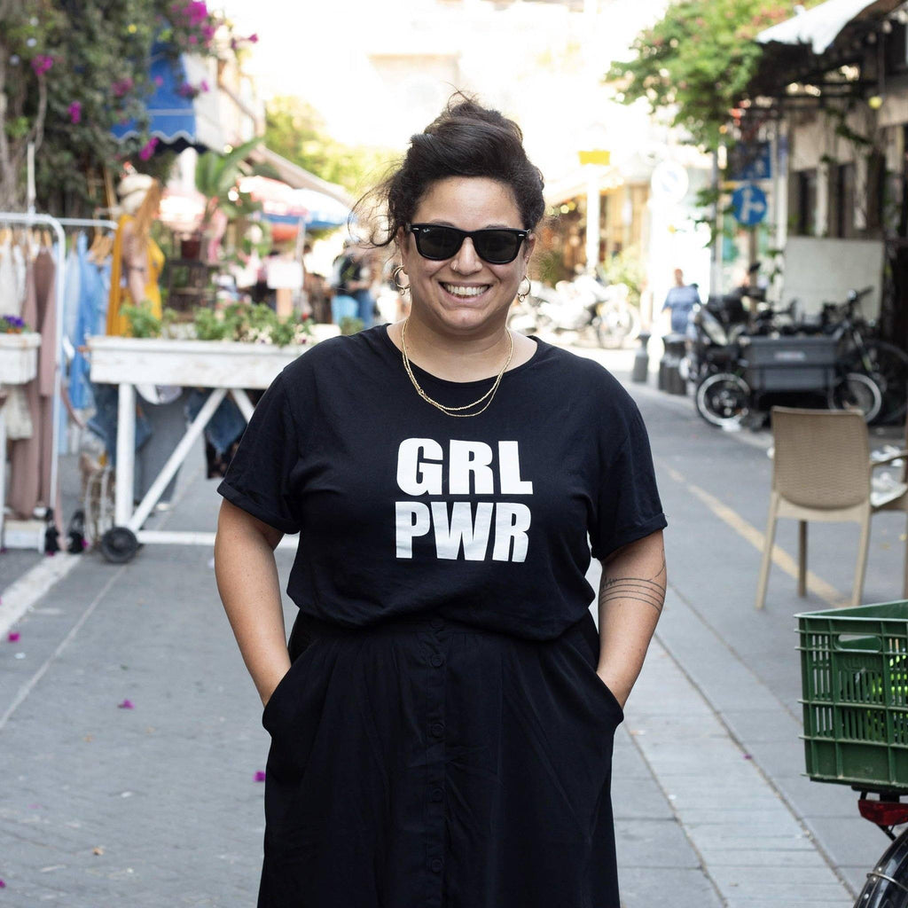 GRL PWR Oversize T-shirt - pink is for boys