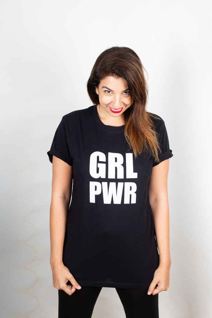 GRL PWR T-shirt - pink is for boys