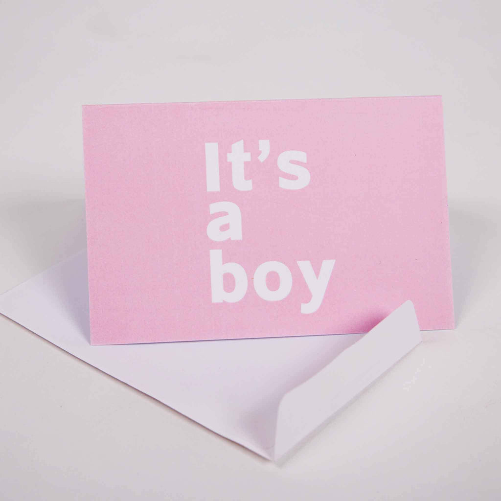It's A Boy Greeting Card - pink is for boys