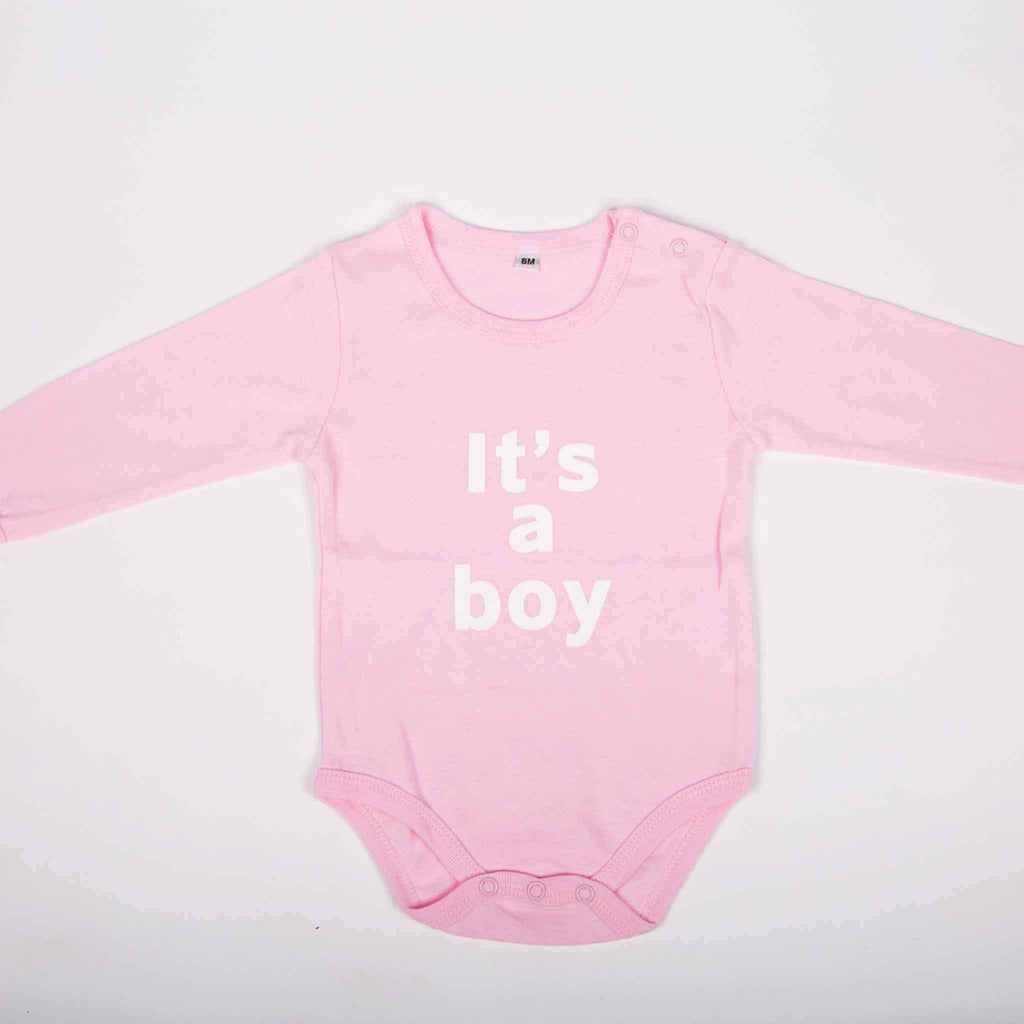 It's a Boy Newborn Onesie - pink is for boys