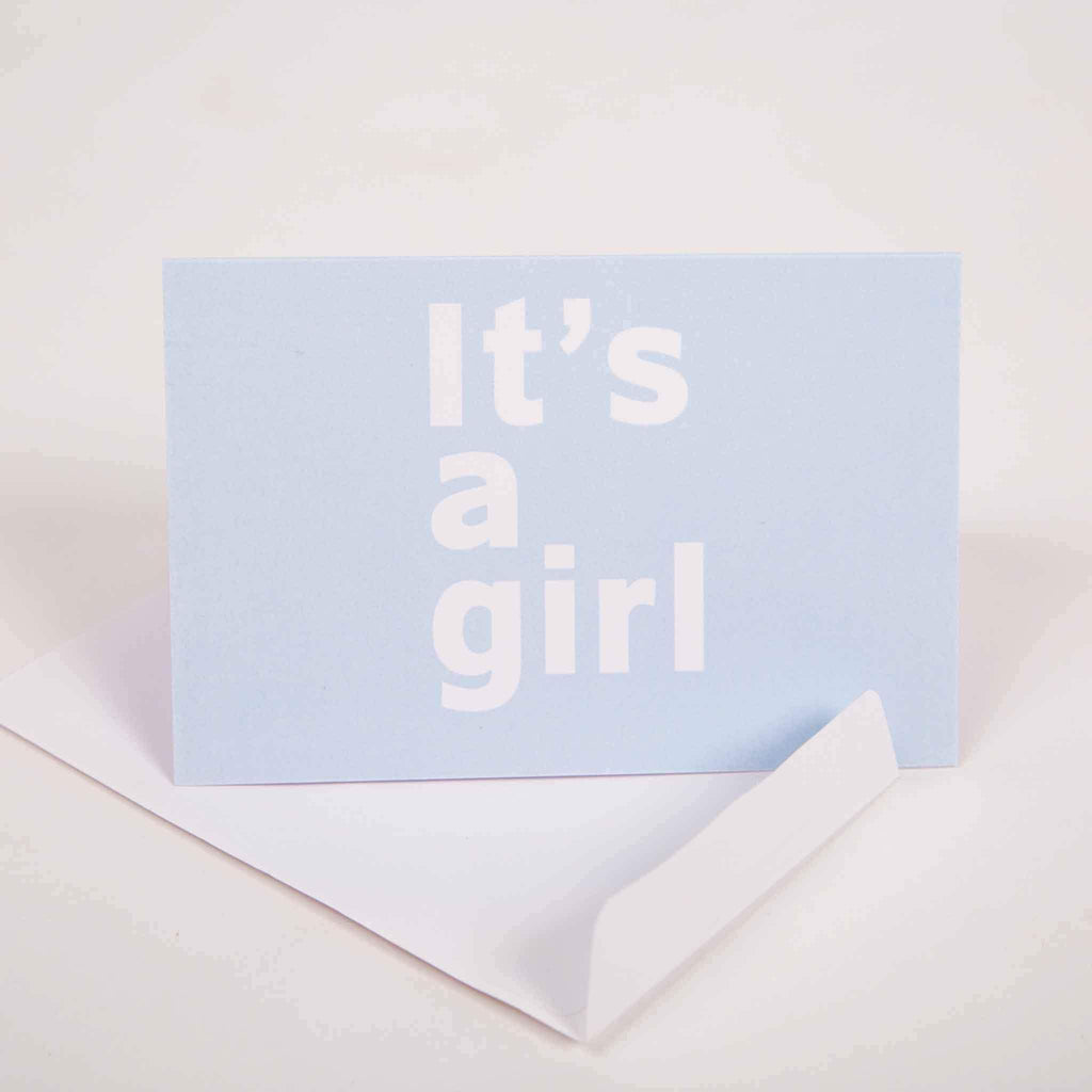 It's a Girl Greeting Card - pink is for boys