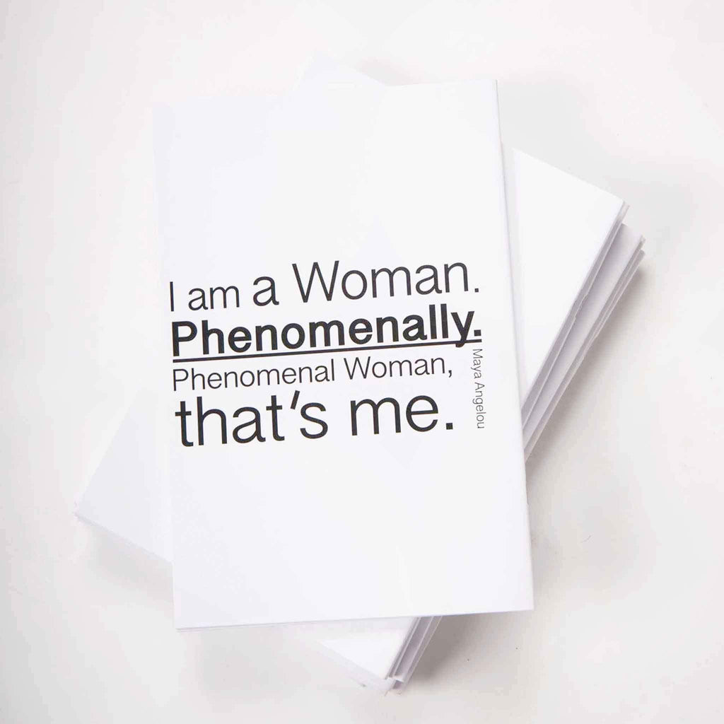 Phenomenal Woman Notebook - pink is for boys