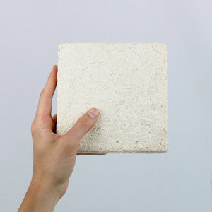 Fully grown square mycelium tile