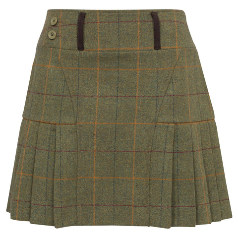 Compton 42cm Pleated Hem Skirt