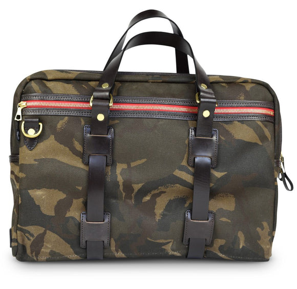 Waxed Camo Laptop Bag