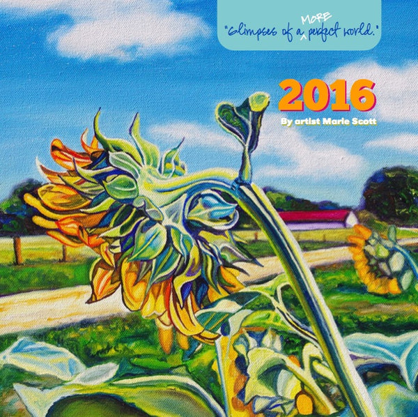 {SALE PRICE!} 2016 Flowers & Landscapes Mini Wall Calendar