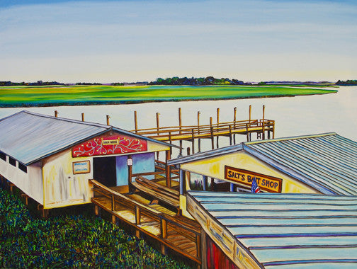 """Bowens Island"" {ORIGINAL OIL PAINTING}"