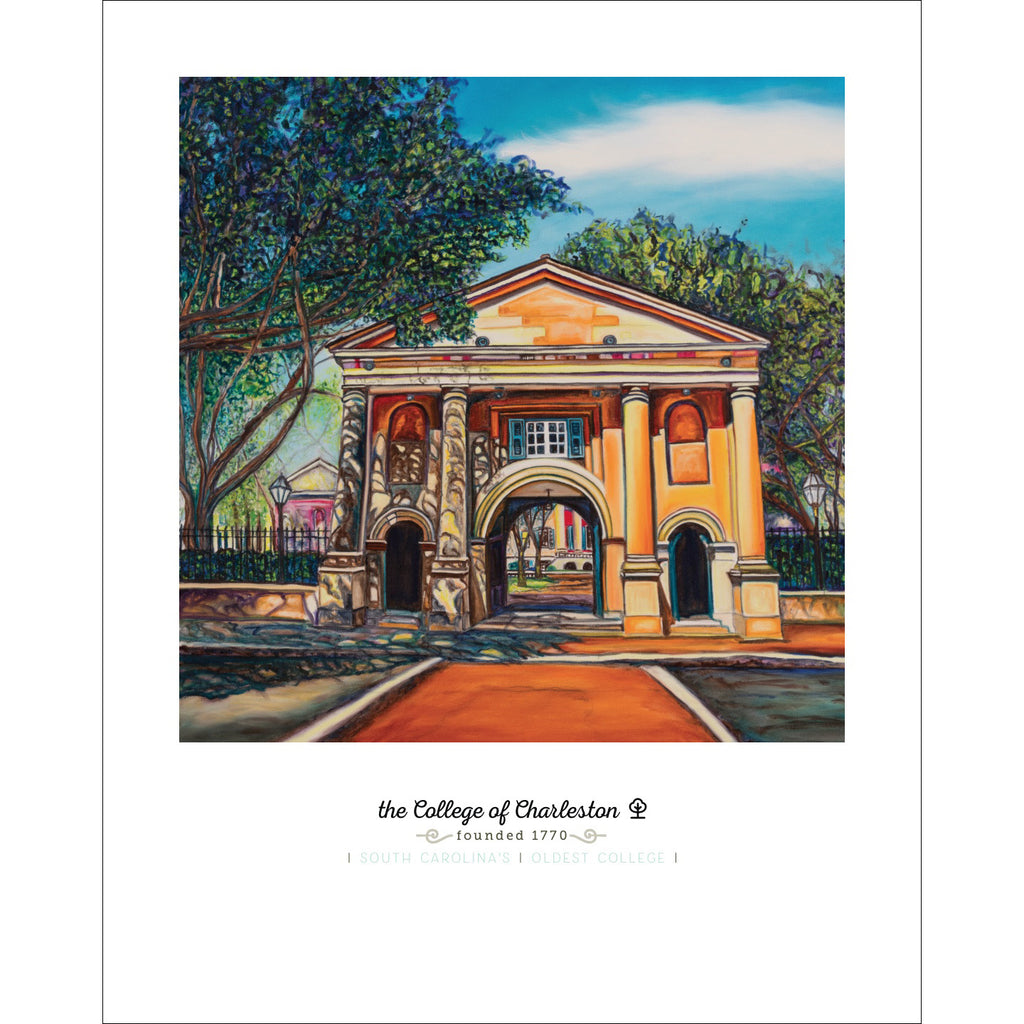 """College of Charleston"" Large Paper Art Print"