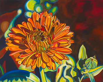 """Charleston Gerbera"" Large Matted Print"