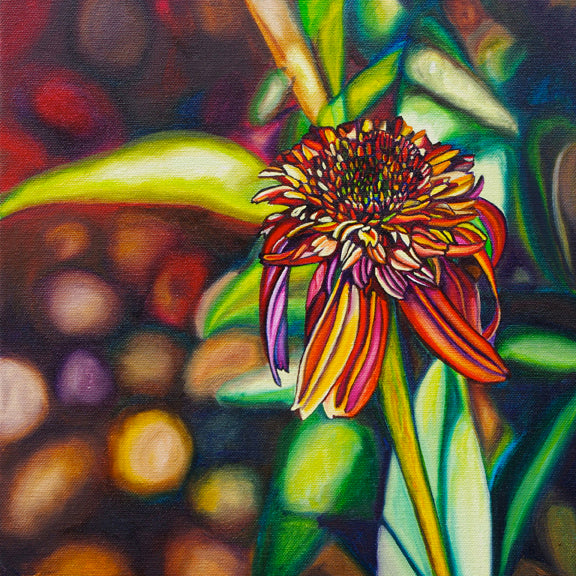 """Coneflower"" {FLORAL OIL PAINTING}"