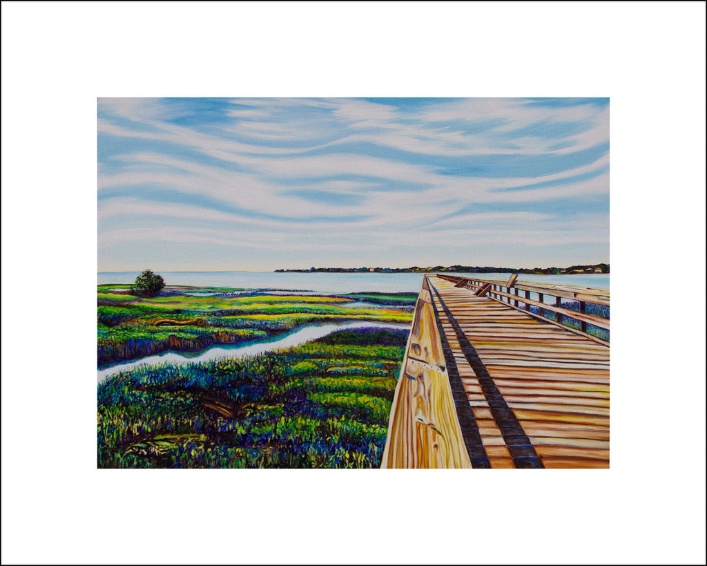 """Fishing Pier"" Large Paper Art Print"