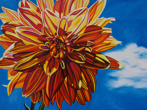 """Flying Dahlia"" Large Matted Print"